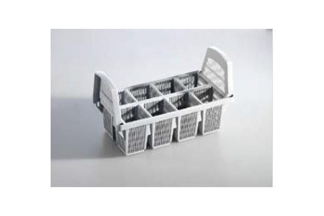 Plastikowy stojak do sztućców 8 przegród 440x210x260 mm